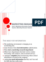 1. MIS,IRS, Marketing Research System