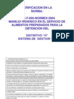 Verificacion en La Normex 605