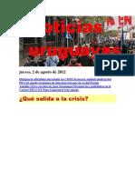 Noticias Uruguayas Jueves 2 de agosto del 2012
