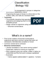 Bio102 classification