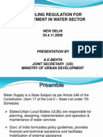 Enabling Regulation for Investment in WaterInfrastructure 4.11.09. UWSS