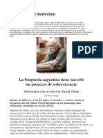 David Viñas, entrevista por Nestor Kohan