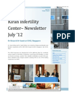 Surrogacy Kiran Infertility Centre Newsletter July 2012 - Dr. Samit Sekhar