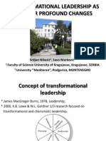 Transformational Leadership as a Factor Profound Changes