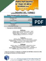 Calendario Del Torneo 2012