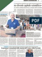 """""""Urbino diventi capitale scientifica"""" - Il Resto del Carlino del 1 agosto 2012"""