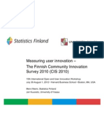CIS - measuring user innovation in Finland - Statistics Finland