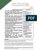 July 2012 Burma Bulletin