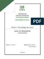 Laser de Alexandrite-funcionamento