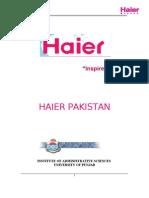Haier Pakistan Seminar Report