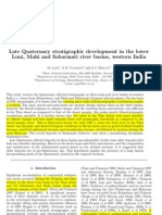 Late Quaternary Stratigraphic Development in the Lower Luni, Mahiand Saraswati Rivers