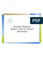 Simple Website Maker Tips for Small Business