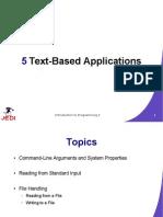 MELJUN CORTES JEDI Slides Intro2 Chapter05 Text Based Applications