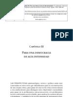 Para Una Democracia de Alta Intensidad- Santos 2006