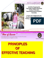 Principle of Effective Teachingt Pp