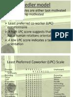 Fiedler Model & Path Goal Theory Of leadership