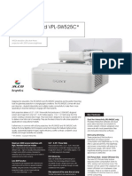 Sony Vpl SW525