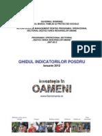 Ghidul Indicatorilor POSDRU 2012