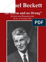 Beckett and Romanticism - All Sturm and No Drang