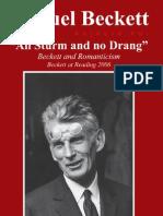 Beckett and Romanticism - All Sturm and No Drang