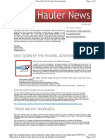 Trucking and Carhauler Newsletter About CSA jul 12