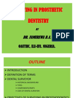 Surveying in Prosthetic Dentistry.