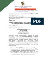 Duplik Kasus Perdata Mantan Sekda Ksb