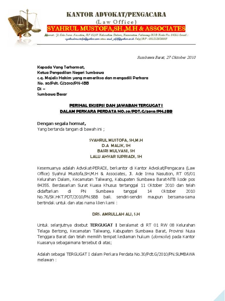 Pdf Surat Kuasa Umum Perdata Linoakart