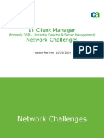 DSM r11 Architecture - Network Challenges
