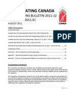 Competitions Bulletin 2011-12 - 2011.01