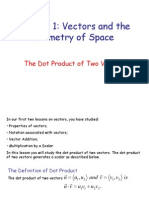 Chapter 1 Dot Product