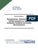 Recuperacion Eliminacion Metales Pesados Esp