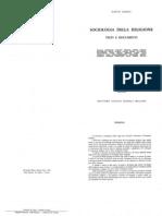 Dario Zadra (1969) -Sociologia Della Religione. Testi e Documenti