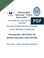 Monografia Metodos de Investigacion Cualitativa 1