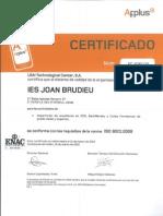Certificació Qualitat 2010