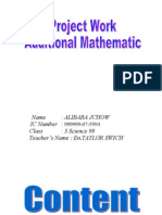Add Math Project 2012 Js