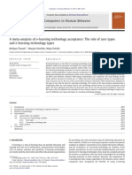 A Meta-Analysis of E-learning Technology Acceptance