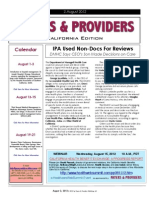 Payers & Providers California Edition – Issue of August 2, 2012