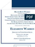Reception for Elizabeth Warren