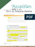 CÓDICE AZCATITLAN UNA MIRADA A UN LIBRO DE HIST. MEXICA