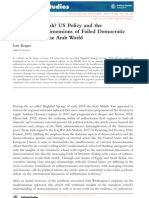 US Policy and the International Dimensions of Failed Democratic Transitions in the Arab World