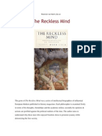 The Reckless Mind deur Mark Lilla