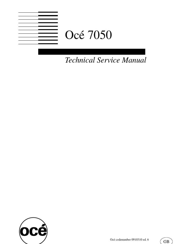 oce 7050 tsm belt mechanical switch rh scribd com