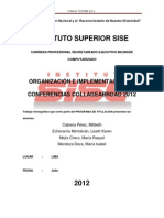 Titulacion EOS - Organiz e Implem de Conferencias Collage Abroad 2012
