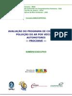 AVALIAÇÃO DO PROGRAMA DE CONTROLE DA POLUIÇÃO DO AR POR VEÍCULOS AUTOMOTORES - SUMÁRIO EXECUTIVO