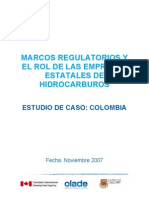 Marcos Regulatorios - Estudio de Caso Colombia
