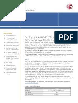 BIG-IP LTM v11 With Citrix XenApp 6 5 | Active Directory