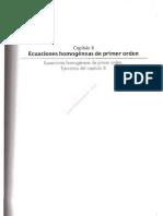 0e2cap 8 Ecuaciones Homogeneas de Primer Orden