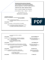 Plan Anual de Ciencias - Fisica. Ciclo Escolar 2012 - 2013 - 2