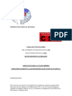 CONVOCATORIA DEL CONGRESO FUNDACIONAL DE LA UIS DE LOS SINDICATOS DE LA  FSM DE PENSIONISTAS Y JUBILADOS